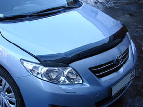 Дефлектор капота Toyota Corolla /Тойоту Короллу 2013-2019 Хик на крепежах