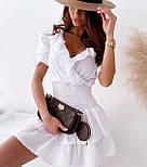 Стильне плаття літнє короткий бавовна, фото 5