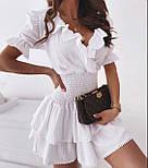 Стильне плаття літнє короткий бавовна, фото 6