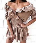 Стильне плаття літнє короткий бавовна, фото 7