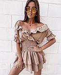 Стильне плаття літнє короткий бавовна, фото 8