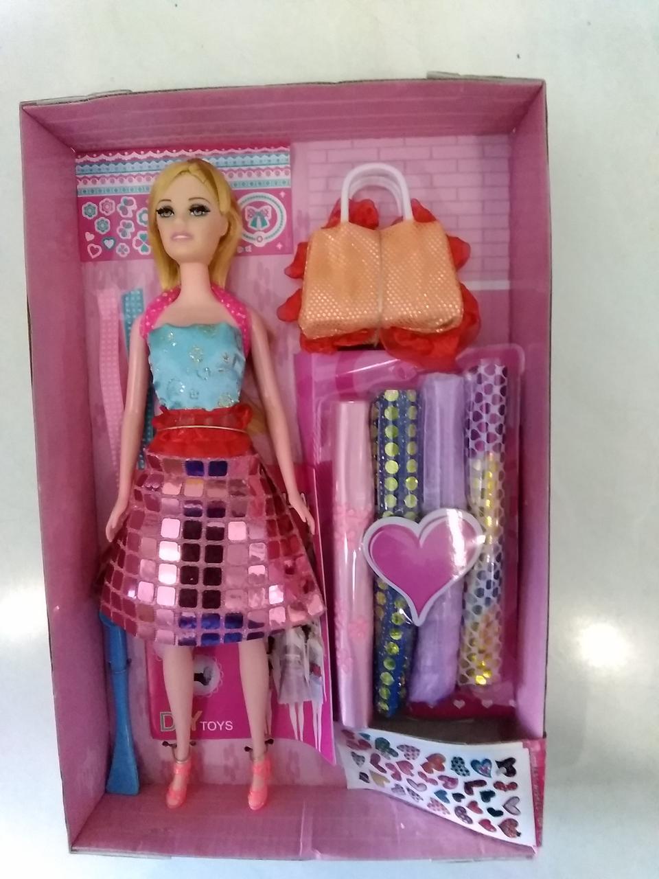 Детский набор маленького дизайнера.Детская кукла с аксессуарами
