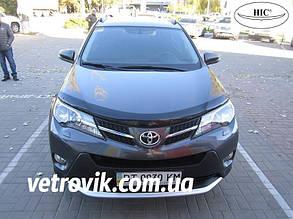 Дефлектор капота Toyota RAV4/Тойоту Рав 4 с 2010-2013 после рестайлинга Хик на крепежах