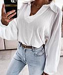 Жіноча сорочка бавовняна з довгим рукавом, фото 6