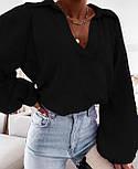 Жіноча сорочка бавовняна з довгим рукавом, фото 4