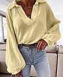 Жіноча сорочка бавовняна з довгим рукавом, фото 3