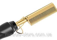 Електрична гребінна гребінець випрямляч Hair Straighter Press Comb з регулюванням температури, фото 3