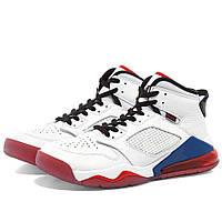 Кроссовки NIKE AIR JORDAN MARS 270 WHITE RED BLUE Оригинальные Джорданы Мужские Белые Спортивные