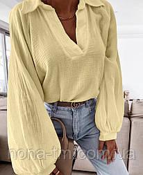Жіноча сорочка літня вільного силуету