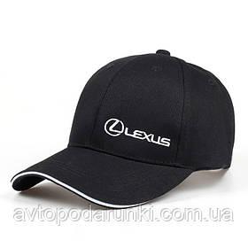 Кепка LEXUS черная NEW, бейсболка с лотипом  авто ЛЕКСУС (лого сбоку)