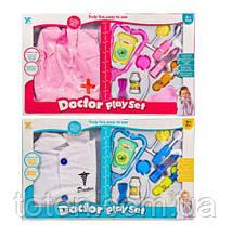 Детский игровой набор  Доктор   стетоскоп, халат, молоток, шприц и тд.  9901-18-18A