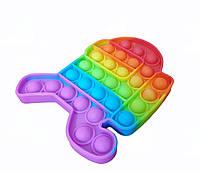 Сенсорная игрушка Among Us Pop It антистресс, человечек, цветок, круг, ромб, восьмиугольник, пупырка радужная, фото 1