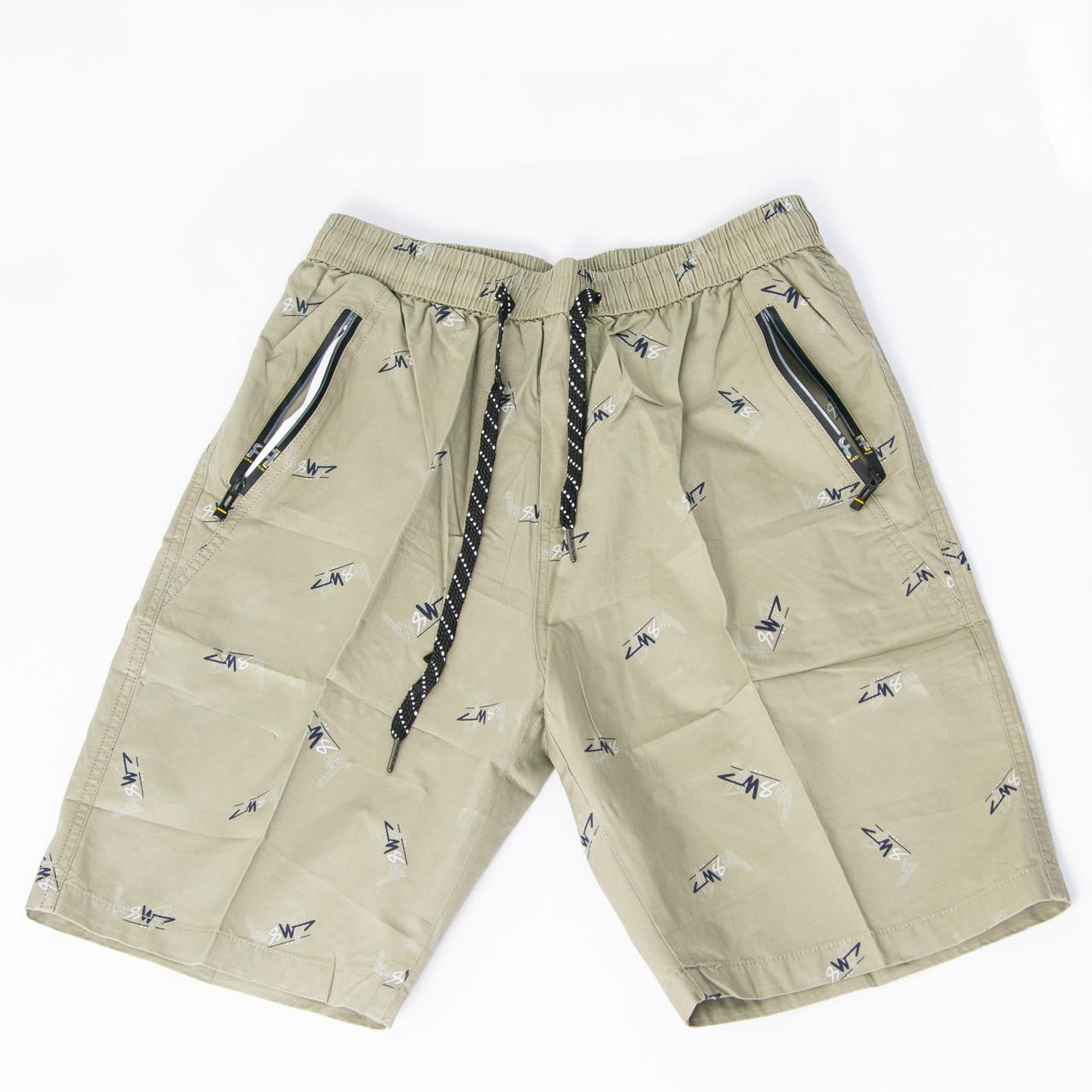 Котонові чоловічі шорти до колін (арт. 23-9656) XL, Сірий