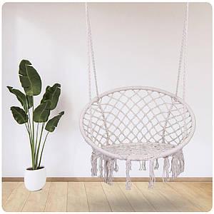 Садове підвісне крісло-качалка BOHO бежеый 290001