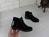 """Ботинки, ботильоны, черные """"Franko"""" НАТУРАЛЬНАЯ ЗАМША, демисезонная, качественная,  повседневная обувь, фото 8"""
