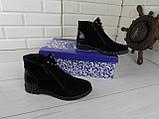 """Ботинки, ботильоны, черные """"Franko"""" НАТУРАЛЬНАЯ ЗАМША, демисезонная, качественная,  повседневная обувь, фото 9"""