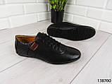 """Туфли, в спортивном стиле черные """"Farade"""" эко кожа, повседневная, удобная, весенняя, мужская обувь, фото 2"""