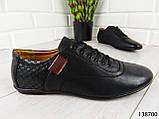 """Туфли, в спортивном стиле черные """"Farade"""" эко кожа, повседневная, удобная, весенняя, мужская обувь, фото 3"""