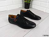 """Туфли, в спортивном стиле черные """"Farade"""" эко кожа, повседневная, удобная, весенняя, мужская обувь, фото 4"""