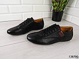"""Туфли, в спортивном стиле черные """"Farade"""" эко кожа, повседневная, удобная, весенняя, мужская обувь, фото 5"""