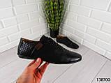 """Туфли, в спортивном стиле черные """"Farade"""" эко кожа, повседневная, удобная, весенняя, мужская обувь, фото 6"""