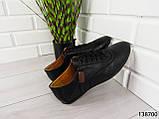 """Туфли, в спортивном стиле черные """"Farade"""" эко кожа, повседневная, удобная, весенняя, мужская обувь, фото 7"""