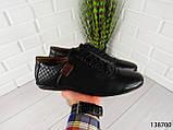 """Туфли, в спортивном стиле черные """"Farade"""" эко кожа, повседневная, удобная, весенняя, мужская обувь, фото 8"""