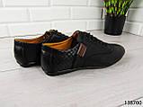 """Туфли, в спортивном стиле черные """"Farade"""" эко кожа, повседневная, удобная, весенняя, мужская обувь, фото 9"""