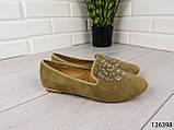 """Балетки, мокасины хаки """"Borjo"""" эко замша, легкая, повседневная, удобная женская обувь, фото 2"""