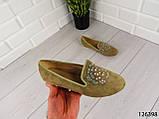 """Балетки, мокасины хаки """"Borjo"""" эко замша, легкая, повседневная, удобная женская обувь, фото 6"""