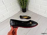"""Балетки, мокасини чорні """"Ribon"""" еко шкіра, легка, повсякденна, зручна жіноча взуття, фото 3"""