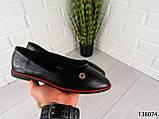 """Балетки, мокасини чорні """"Ribon"""" еко шкіра, легка, повсякденна, зручна жіноча взуття, фото 4"""