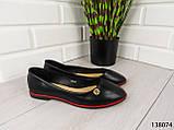 """Балетки, мокасини чорні """"Ribon"""" еко шкіра, легка, повсякденна, зручна жіноча взуття, фото 5"""