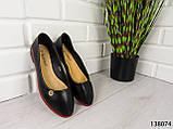 """Балетки, мокасини чорні """"Ribon"""" еко шкіра, легка, повсякденна, зручна жіноча взуття, фото 6"""