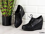 """Туфлі жіночі, чорні """"Sole Z"""", еко шкіра, мокасини жіночі, балетки жіночі, повсякденне взуття, фото 7"""