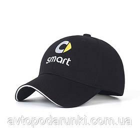 Кепка SMART черная, бейсболка с лотипом авто  СМАРТ
