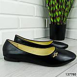 """Балетки жіночі, чорні """"Perty"""" еко шкіра, туфлі жіночі, мокасини жіночі, жіноче взуття, фото 5"""