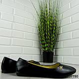 """Балетки жіночі, чорні """"Perty"""" еко шкіра, туфлі жіночі, мокасини жіночі, жіноче взуття, фото 6"""