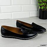 """Балетки женские, черные """"Udery"""" эко кожа, туфли женские, мокасины женские, женская обувь, фото 3"""