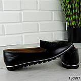 """Балетки женские, черные """"Udery"""" эко кожа, туфли женские, мокасины женские, женская обувь, фото 4"""