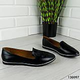 """Балетки женские, черные """"Udery"""" эко кожа, туфли женские, мокасины женские, женская обувь, фото 6"""