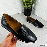 """Балетки женские, черные """"Udery"""" эко кожа, туфли женские, мокасины женские, женская обувь, фото 7"""