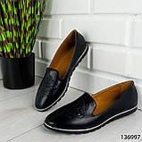 """Балетки женские, черные """"Udery"""" эко кожа, туфли женские, мокасины женские, женская обувь, фото 8"""