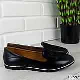 """Балетки женские, черные """"Udery"""" эко кожа, туфли женские, мокасины женские, женская обувь, фото 9"""