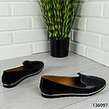 """Балетки женские, черные """"Udery"""" эко кожа, туфли женские, мокасины женские, женская обувь, фото 10"""