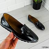 """Балетки женские, черные """"Firci"""" эко лак, туфли женские, мокасины женские, женская обувь, фото 2"""