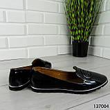 """Балетки женские, черные """"Firci"""" эко лак, туфли женские, мокасины женские, женская обувь, фото 3"""