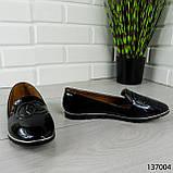 """Балетки женские, черные """"Firci"""" эко лак, туфли женские, мокасины женские, женская обувь, фото 4"""