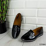 """Балетки женские, черные """"Firci"""" эко лак, туфли женские, мокасины женские, женская обувь, фото 5"""