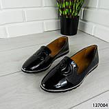 """Балетки женские, черные """"Firci"""" эко лак, туфли женские, мокасины женские, женская обувь, фото 6"""